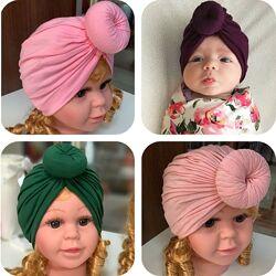 Детская шапочка с бантом гулей чалма детский тюрбан