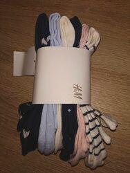 Разноцветные носки 5 и 7 штук h&m размеры 37-41