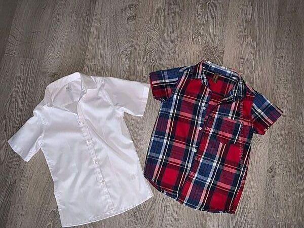 Sale. Рубашки с коротким рукавом M&S и Urban 65 6-8лет