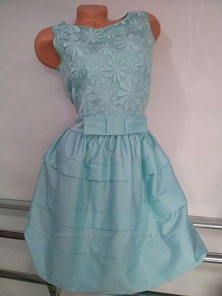 Нарядное платье нежно голубого цвета, Польша, Скидка