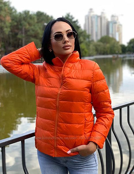 Куртка женская оранжевая демисезонная код п201