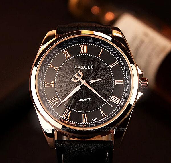 Люксовые мужские часы с черным ремешком код 293