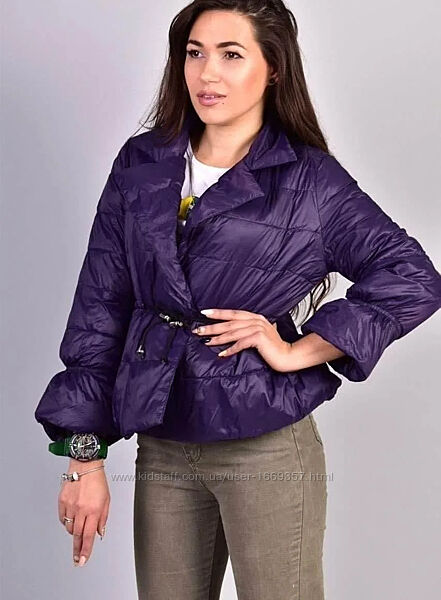 Куртка женская фиолетовая демисезонная код п307