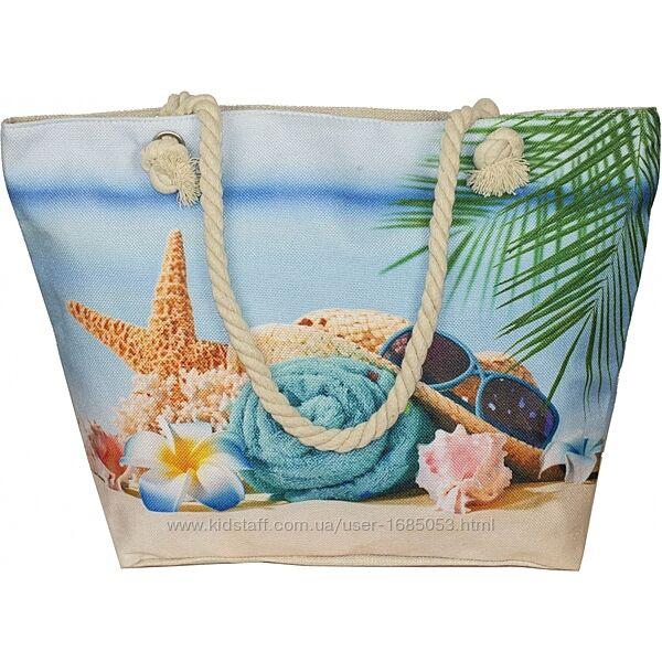 Сумка женская пляжная хлопковая красивая летняя с ярким принтом