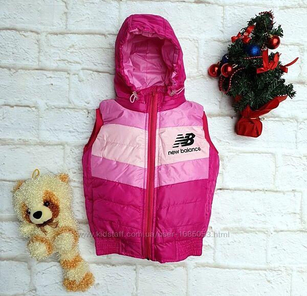 Жилет розовый детский для девочки на флисе и синтепоне размеры на 1-6 лет
