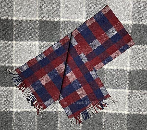 Мужской шарф в клетку оригинал разноцветный