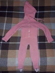 Комплект детской одежды на 1-2 года, размер 26-28. Шапка, кофта, штаны