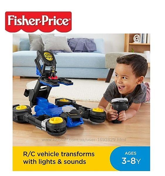 Fisher-Price Imaginext DC Transforming Batmobile R/C Фішер Прайс Бетмобіль