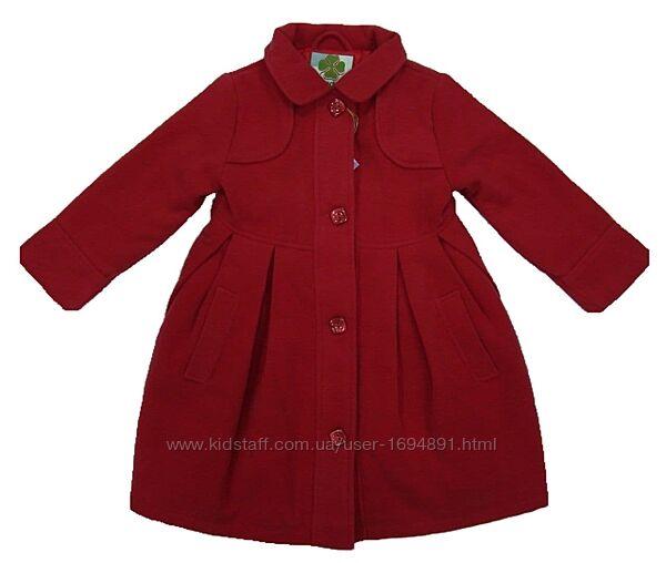 Демисезонное пальто для девочки син/розов QuadriFoglio, Польша