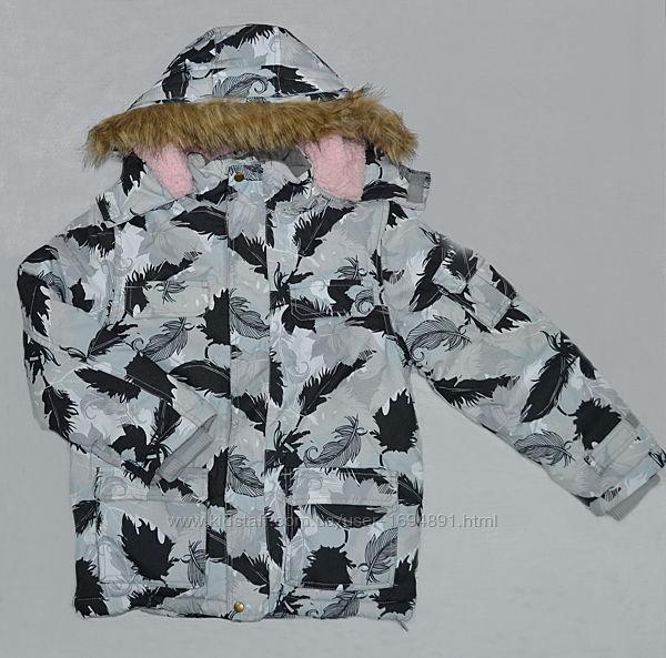 Зимняя куртка для девочки ТЕА розов/сер 134 -164 см QuadriFoglio, Польша
