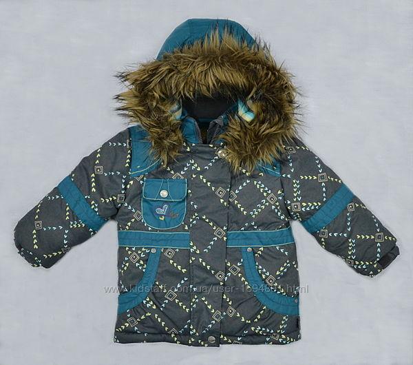 Куртка зимняя для девочки серо-зеленая QuadriFoglio, Польша