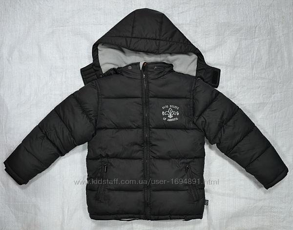 Зимняя куртка для мальчика черная/серая QuadriFoglio, Польша