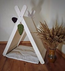 Деревянный домик, вигвам, хлопковый чехол