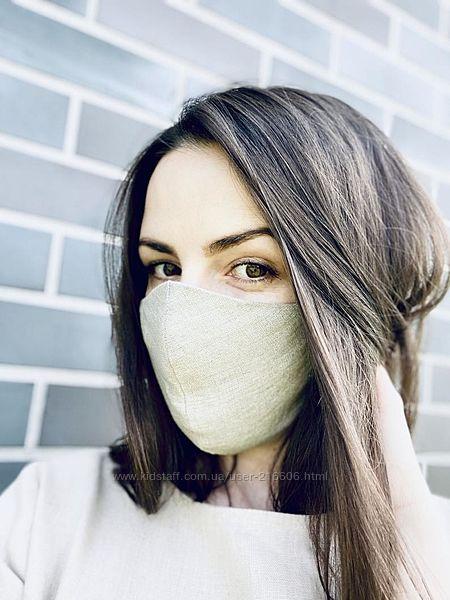 Льняная маска набор 3 шт