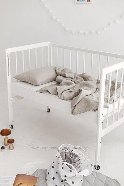 комплект постели серый лен