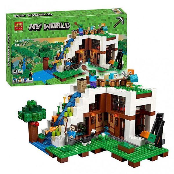 Конструктор Bela Minecraft 10624 База на водопаде ,747 дет.