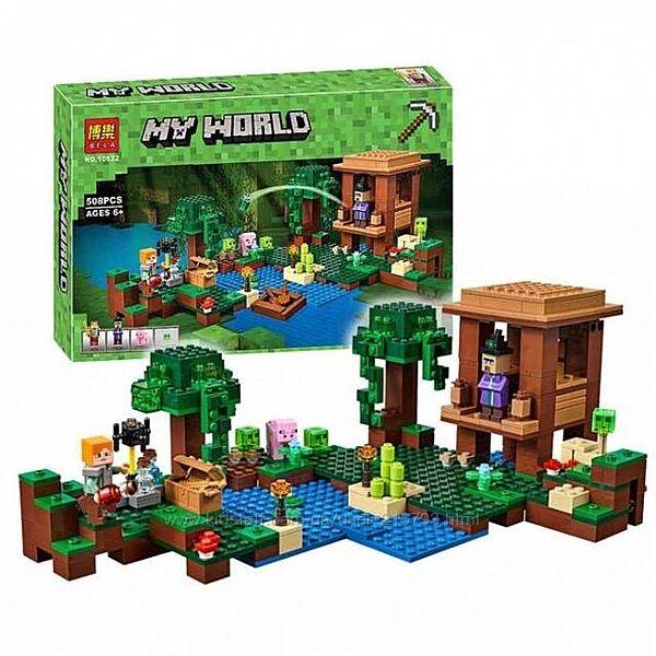 Конструктор Bela Minecraft 10622 Хижина ведьмы , 580 деталей.