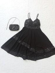 Платье миди с пайетками, платье вечернее h&g, на бретелях, сукня вечірня xs