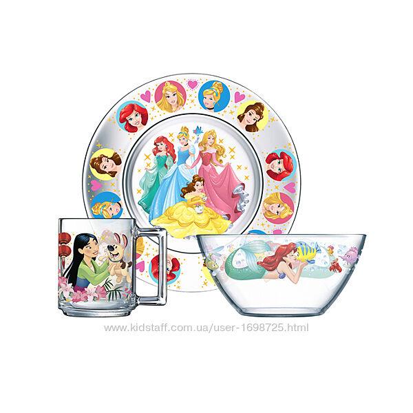 Набор посуды для девочки Disney Кошка Мари, Жасмин, Рапунцель, Принцессы