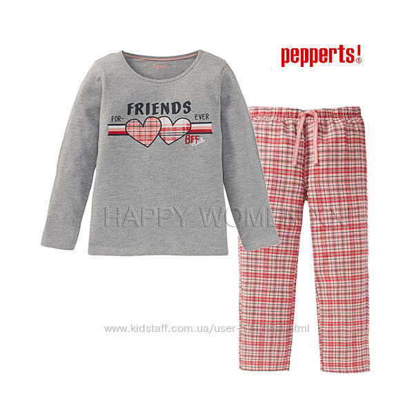 Пижама для девочки 6-8 л Pepperts детская домашняя одежда пижамка лонгсли