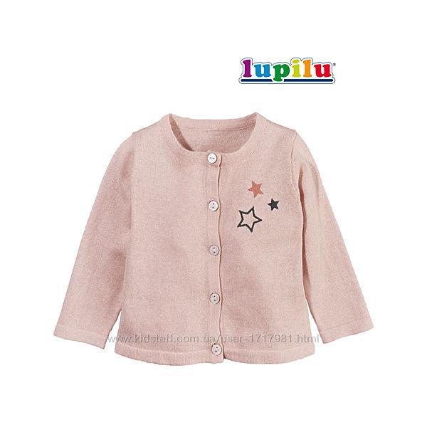 Кофта для девочки 6-12 мес Lupilu нарядная кофточка хлопок лупилу кофтинка