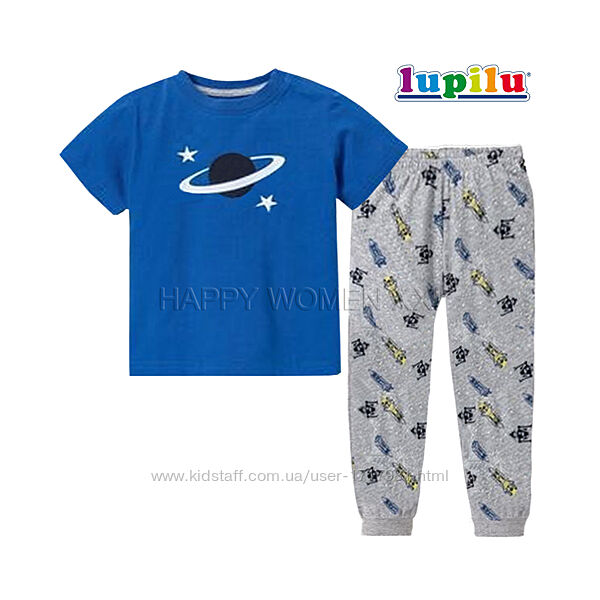 Пижама для мальчика 1-2 года Lupilu штаны футболка штанці хлопчик дитячи