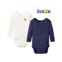 Набор бодик для мальчика 1-2 года lupilu лонгслив боди комплект бодиков