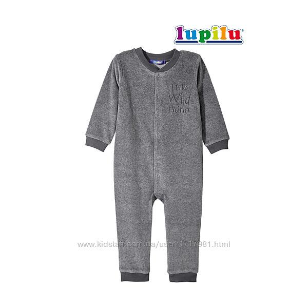 Пижама комбинезон для мальчика 12-24 мес Lupilu человечек велюровый осенний