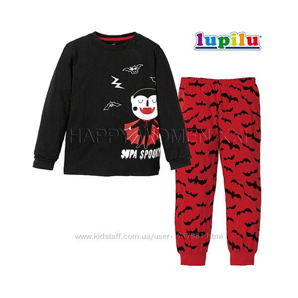 Светящаяся пижама для мальчика 2-4 года Lupilu домашняя одежда піжама