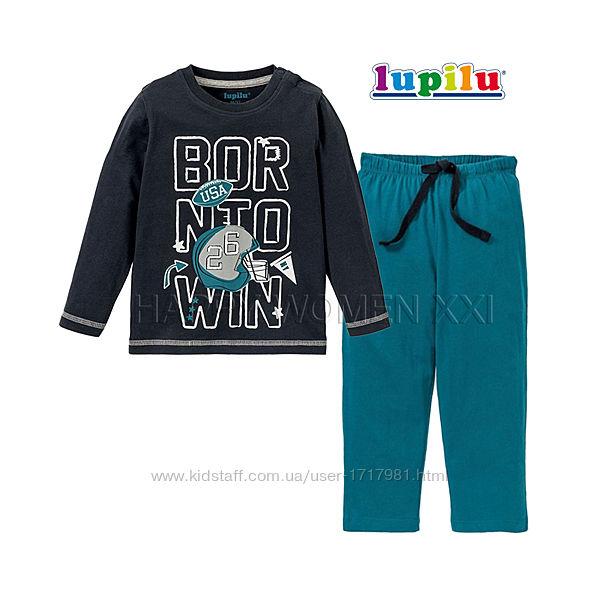Пижама для мальчика 2-6 лет Lupilu штаны лонгслив реглан штанці хлопчик