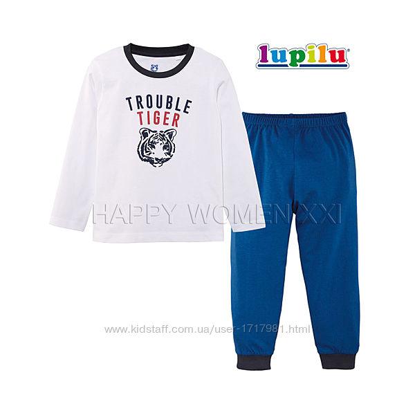 Пижама для мальчика 2-4 года Lupilu штаны лонгслив реглан штанці хлопчик