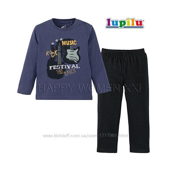 Пижама для мальчика 4-6 лет Lupilu штаны лонгслив реглан штанці хлопчик
