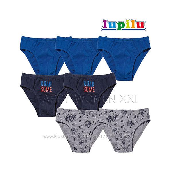 Набор трусики для мальчика 4-6 лет Lupilu детские трусы слипы лупилу