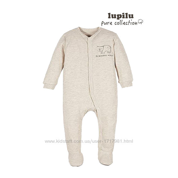 Человечек слип для мальчика 1-2 мес Lupilu комбинезон пижама чоловічок