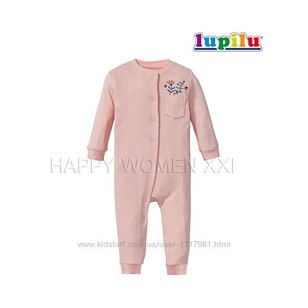 Человечек слип для девочки 12-18 мес Lupilu комбинезон пижама чоловічок