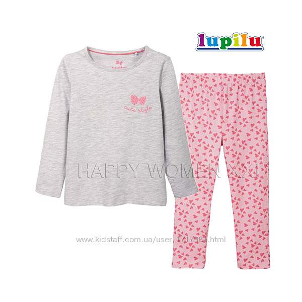 Пижама для девочки 1-2 года лонгслив штаны піжама реглан штанці дівчинка