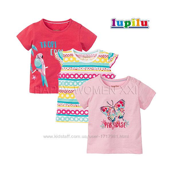 Набор футболок для девочки 6-12 мес Lupilu футболка на малышку футболочка