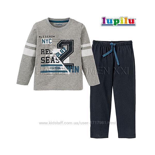 Пижама для мальчика 1-2 года Lupilu штаны лонгслив реглан штанці хлопчик