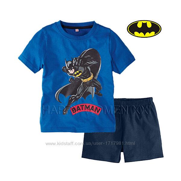 Летняя пижама для мальчика 1-2 года Batmanl шорты летний комплект бетмен