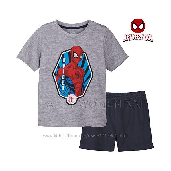 Летняя пижама для мальчика 1-2 года Spider-Man шорты летний комплект