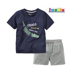 Летняя пижама для мальчика 2-6 лет Lupilu шорты футболка летний комплект