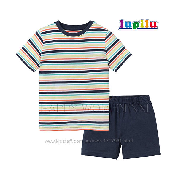 Летняя пижама для мальчика 4-6 лет Lupilu шорты футболка летний комплект