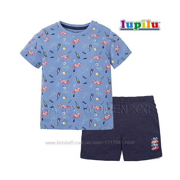 Летняя пижама для мальчика 2-6 лет Lupilu футболка шорты хлопчик піжама