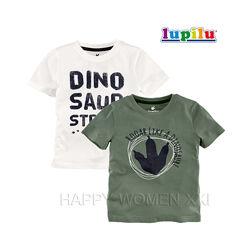 Набор футболок для мальчика 2-4 года Lupilu детская футболка рисунок хлопок
