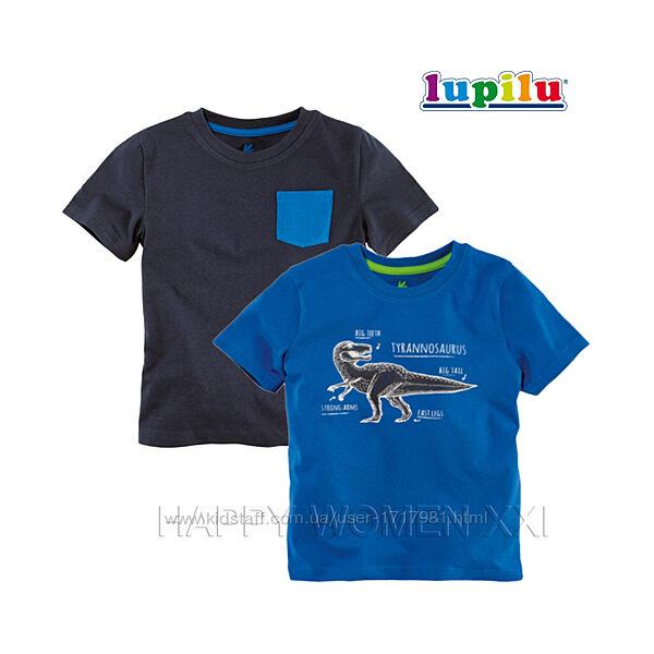Набор футболок для мальчика 2-6 лет Lupilu детская футболка рисунок хлопок