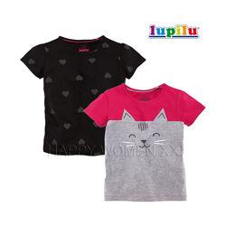 Набор футболок для девочки 2-6 лет Lupilu детская футболка с принтом хлопок