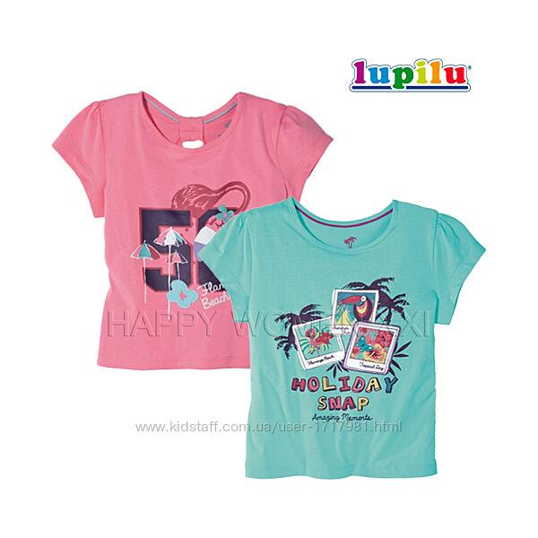 Набор футболок для девочки 2-4 г Lupilu детская футболка с принтом хлопок