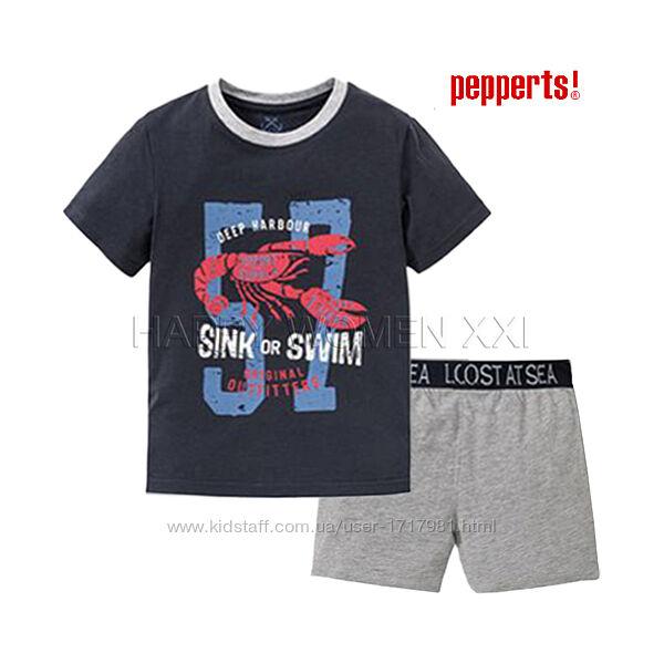 Летняя пижама для мальчика 6-8 лет Pepperts домашняя одежда піжама шорты