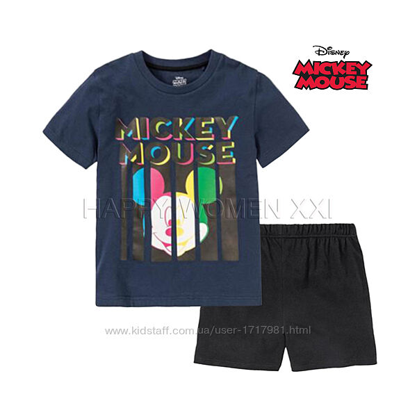 Летняя пижама для мальчика 6-8 лет Mickey Mous домашняя одежда піжама шорты