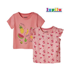 Набор футболок для девочки 2-6 м Lupilu детская футболка на малышку дитяча